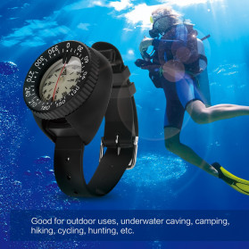 HIKE Gelang Kompas Professional Diving Compass Waterproof - HK50 - Black