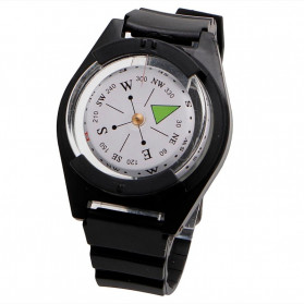 HIKE Gelang Jam Kompas Military Outdoor Compass - HK51 - Black