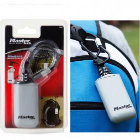 Master Lock Gembok Koper Hanging Safebox Padlock Kode Angka 3 Digit  - 5408D - Silver - 2