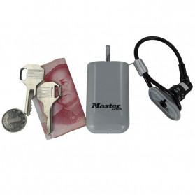 Master Lock Gembok Koper Hanging Safebox Padlock Kode Angka 3 Digit  - 5408D - Silver - 3