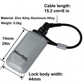 Master Lock Gembok Koper Hanging Safebox Padlock Kode Angka 3 Digit  - 5408D - Silver - 5