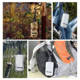 Master Lock Gembok Koper Hanging Safebox Padlock Kode Angka 3 Digit  - 5408D - Silver - 6