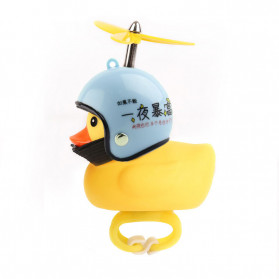 GMARTY Bell Sepeda Anak Bebek Rubber Duck Helm Become Rich Overnight with LED Light - YQ153 - Yellow - 1
