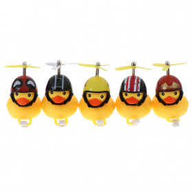 GMARTY Bell Sepeda Anak Bebek Rubber Duck Helm Become Rich Overnight with LED Light - YQ153 - Yellow - 2