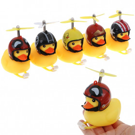 GMARTY Bell Sepeda Anak Bebek Rubber Duck Helm Become Rich Overnight with LED Light - YQ153 - Yellow - 3