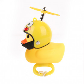 GMARTY Bell Sepeda Anak Bebek Rubber Duck Helm Spongebob with LED Light - YQ153 - Yellow
