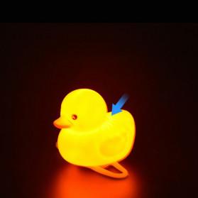 GMARTY Bell Sepeda Anak Bebek Rubber Duck Helm Spongebob with LED Light - YQ153 - Yellow - 7