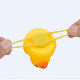 GMARTY Bell Sepeda Anak Bebek Rubber Duck Helm Spongebob with LED Light - YQ153 - Yellow - 10