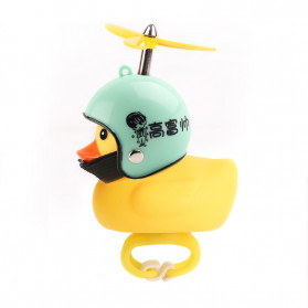 GMARTY Bell Sepeda Anak Bebek Rubber Duck Helm Gao Fushuai with LED Light - YQ153 - Yellow