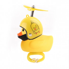 GMARTY Bell Sepeda Anak Bebek Rubber Duck Helm Shake Duck with LED Light - YQ153 - Yellow