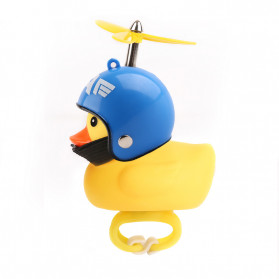 GMARTY Bell Sepeda Anak Bebek Rubber Duck Helm Captain America Emblem with LED Light - YQ153 - Yellow