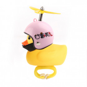 GMARTY Bell Sepeda Anak Bebek Rubber Duck Helm White Formica with LED Light - YQ153 - Yellow