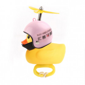 GMARTY Bell Sepeda Anak Bebek Rubber Duck Helm White Formica with LED Light - YQ153 - Yellow - 2