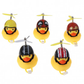GMARTY Bell Sepeda Anak Bebek Rubber Duck Helm White Formica with LED Light - YQ153 - Yellow - 3