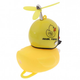 GMARTY Bell Sepeda Anak Bebek Rubber Duck Helm White Formica with LED Light - YQ153 - Yellow - 6