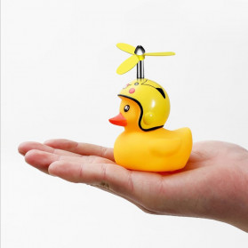 GMARTY Bell Sepeda Anak Bebek Rubber Duck Helm White Formica with LED Light - YQ153 - Yellow - 7