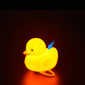 GMARTY Bell Sepeda Anak Bebek Rubber Duck Helm White Formica with LED Light - YQ153 - Yellow - 8