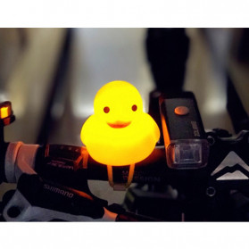 GMARTY Bell Sepeda Anak Bebek Rubber Duck Helm White Formica with LED Light - YQ153 - Yellow - 12