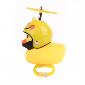 GMARTY Bell Sepeda Anak Bebek Rubber Duck Helm Big Smile with LED Light - YQ153 - Yellow