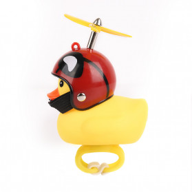 GMARTY Bell Sepeda Anak Bebek Rubber Duck Helm Stay Dead with LED Light - YQ153 - Yellow