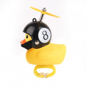 GMARTY Bell Sepeda Anak Bebek Rubber Duck Eight Ball with LED Light - YQ153 - Yellow