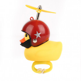GMARTY Bell Sepeda Anak Bebek Rubber Duck Red Pentagram with LED Light - YQ153 - Yellow