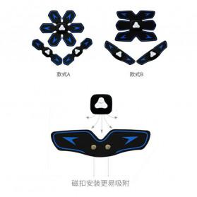 HUIFAN Alat Stimulator Otot Six Pack EMS Trainer ABS Abdominal Muscle - HF-109 - Black - 2