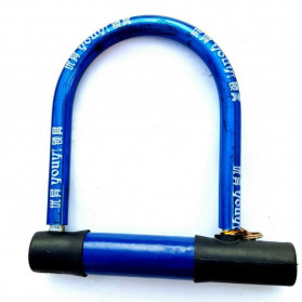 Licheng U-Lock Gembok Sepeda Anti Maling Bike Lock - LC-10222 - Blue