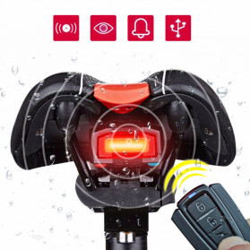 Deemount 3 in 1 Alarm Anti Maling Wireless Remote Control and Lampu Belakang Sepeda Bicycle Taillight COB - UL31 - Black