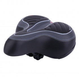 VERDENERGIA Sadel Sepeda Comfortable Shock Absorption with Tail Warning Reflective Tape - SX188 - Black