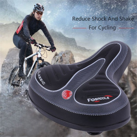 VERDENERGIA Sadel Sepeda Comfortable Shock Absorption with Tail Warning Reflective Tape - SX188 - Black - 4