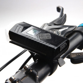 Powerbeam Lampu Klakson Sepeda Bike Light USB Rechargeable Waterproof - BK1719 - Black
