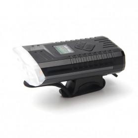 Powerbeam Lampu Klakson Sepeda Bike Light USB Rechargeable Waterproof - BK1719 - Black - 2