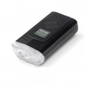 Powerbeam Lampu Klakson Sepeda Bike Light USB Rechargeable Waterproof - BK1719 - Black - 3