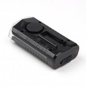 Powerbeam Lampu Klakson Sepeda Bike Light USB Rechargeable Waterproof - BK1719 - Black - 4
