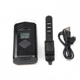 Powerbeam Lampu Klakson Sepeda Bike Light USB Rechargeable Waterproof - BK1719 - Black - 7