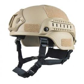 TaffSPORT Helm Tactical Airsoft Gun Paintball CS SWAT - MICH2000 - Khaki