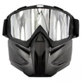 BOLLFO Kacamata Goggles Mask Motorcross Retro Anti Glare Windproof - DHL-2 - Gray