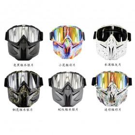 BOLLFO Kacamata Goggles Mask Motorcross Retro Anti Glare Windproof - DHL-2 - Army Green - 7
