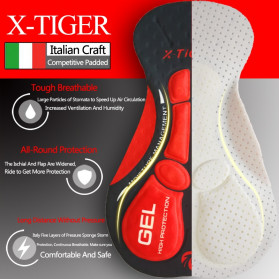 X-TIGER Celana Sepeda Cycling Short dengan 5D Breathable Pad Size XL - XM-DK-005 - Black Blue - 3