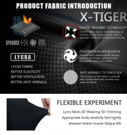 X-TIGER Celana Sepeda Cycling Short dengan 5D Breathable Pad Size XL - XM-DK-005 - Black Blue - 4