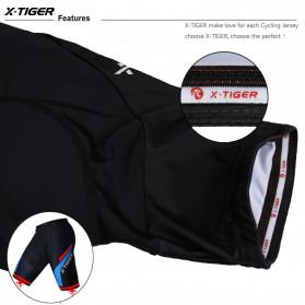 X-TIGER Celana Sepeda Cycling Short dengan 5D Breathable Pad Size XL - XM-DK-005 - Black Blue - 6