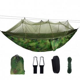 Tenda & Hammock Camping - AstaGear Hammock Parasut Ultralight dengan Net Anti Nyamuk - DS002 - Camouflage