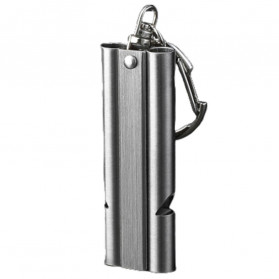 BAKMK Peluit Survival Double Pipe Whistle Stainless Steel - SW24 - Silver