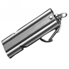 BAKMK Peluit Survival Double Pipe Whistle Stainless Steel - SW24 - Silver - 3