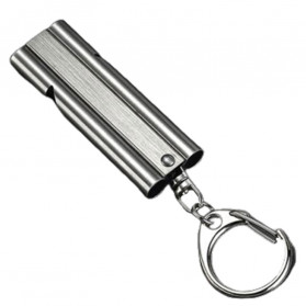 BAKMK Peluit Survival Double Pipe Whistle Stainless Steel - SW24 - Silver - 5