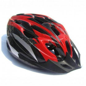 TaffSPORT Helm Sepeda EPS Foam PVC Shell - x31 (OBRAL/DEFECT) - Black/Red