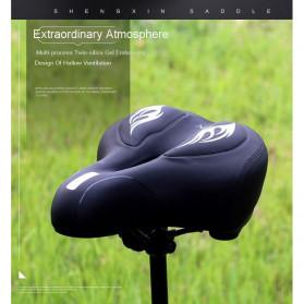 SHENGXIN Sadel Sepeda Comfortable Silicone Cushion - SX-731 - Black/Red - 7