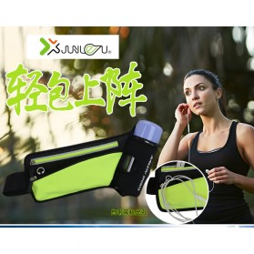 Junletu Tas Pinggang Olahraga Holder Botol Minum Sporty Waist Bag Woman - B-FF001 - Black - 3