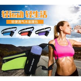 Junletu Tas Pinggang Olahraga Holder Botol Minum Sporty Waist Bag Woman - B-FF001 - Black - 4